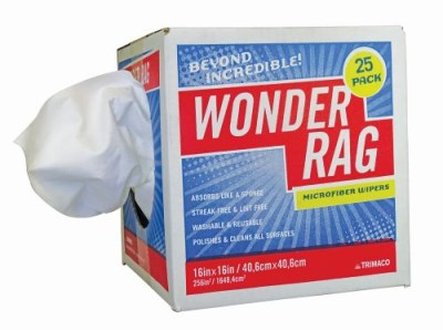 Wonder Rag Microfibre 40 x 40cm 25 per Dispenser Box