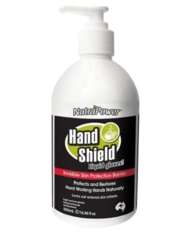 NatraPower HandShield Liquid Gloves 500ml pump bottle