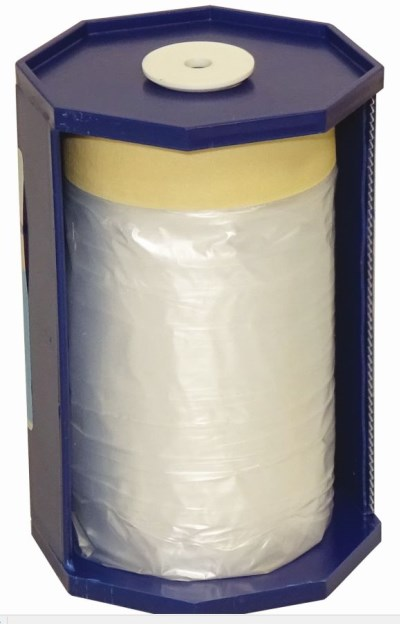 CQ Pre-Taped Masking Film Dispenser c/w refill 55cm x 20m