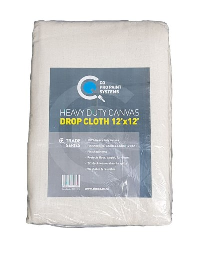 CQ  Canvas Drop Cloth 12 x 12 Heavy Duty
