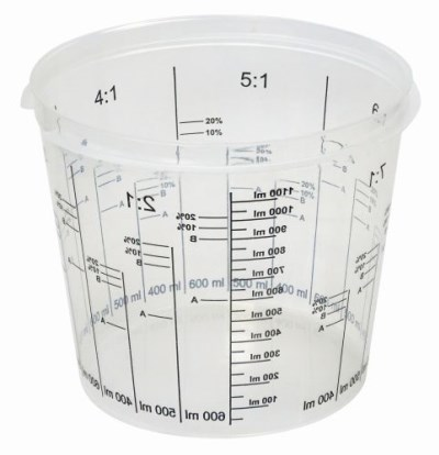Super Cup Graduated Mixing Cup 650cc (sleeve of 25)