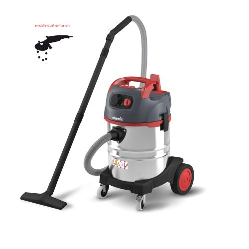 Starmix uClean Dust Extractor Wet/Dry S/Steel Canister 35L