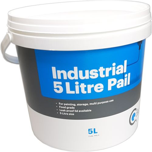 CQ  Paint Pail 5 litre with handle CQ printed
