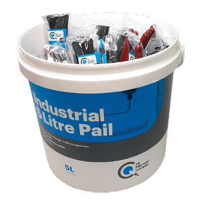 CQ Bucket of Test Post Brushes