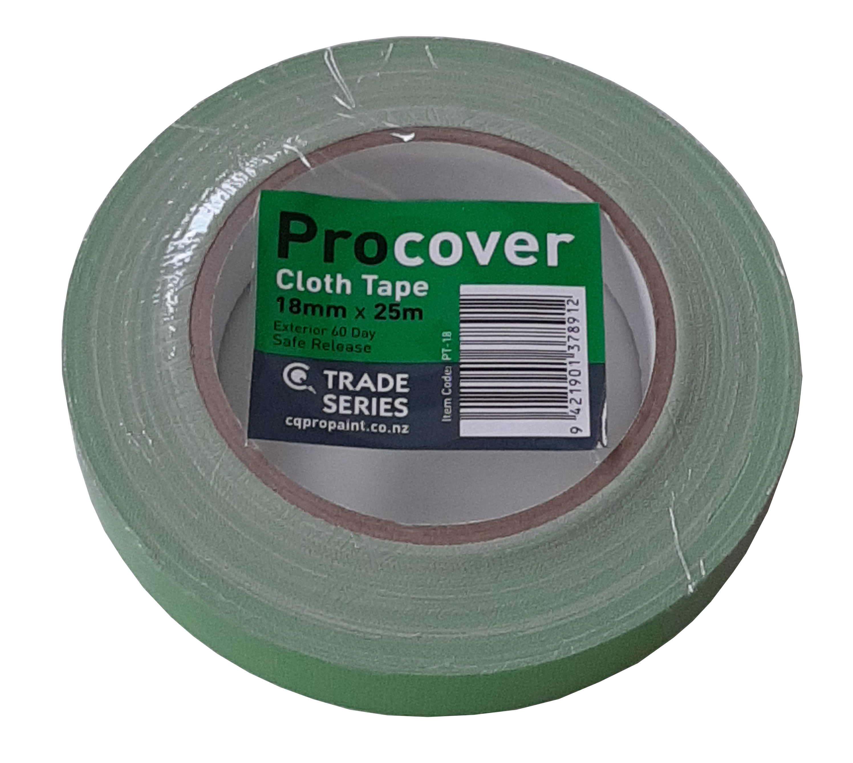 CQ  ProCover Green Cloth Masking Tape 18mm x 25m