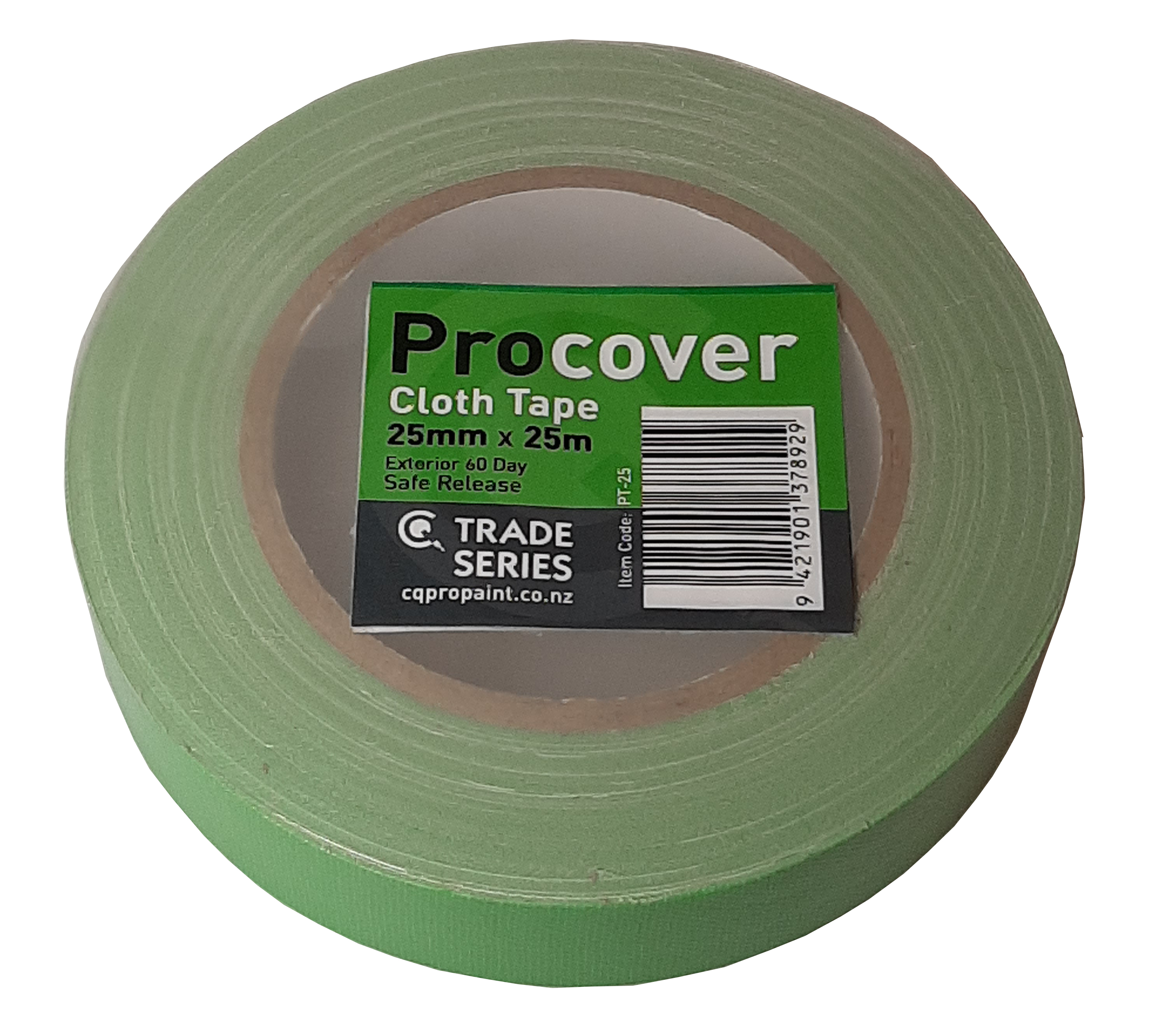 CQ ProCover Green Cloth Masking Tape 25mm x 25m