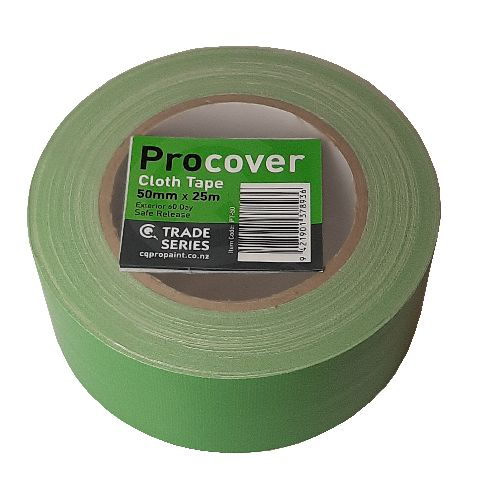 ProCover Green Cloth Masking Tape 50mm x 25m
