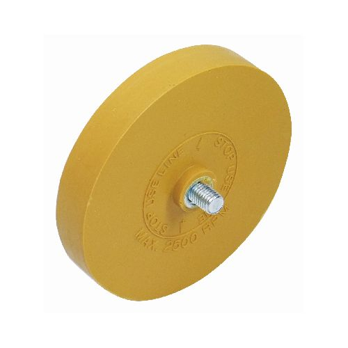 Eraser Wheel with threaded spindle