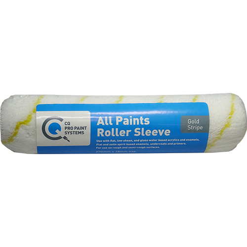 CQ  Gold Stripe All Paints Roller Sleeve 270mm x 18mm