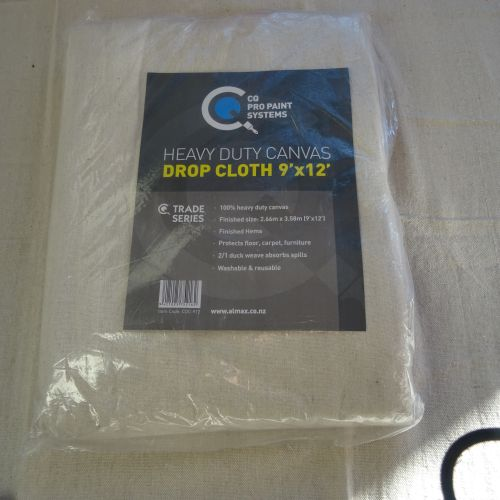 CQ   Canvas Drop Cloth 9' x 12' Heavy Duty