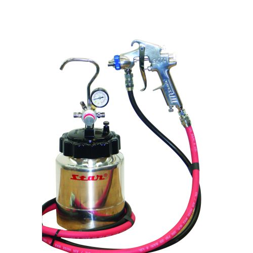 Star PP-2500 Pressure Pot Kit inc S-770 spray gun 1.7mm