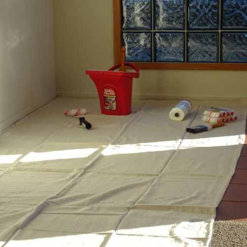 "CQ  Canvas Drop Cloth 4' x 15'  ""Hallway Runner"""