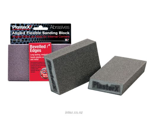 Intex Flexible Foam Sanding Block Angled Sides Medium Grit