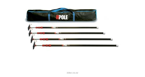 ZipPole Spring-Loaded Pole  1.4m - 3.2m - 4 Pack Kit