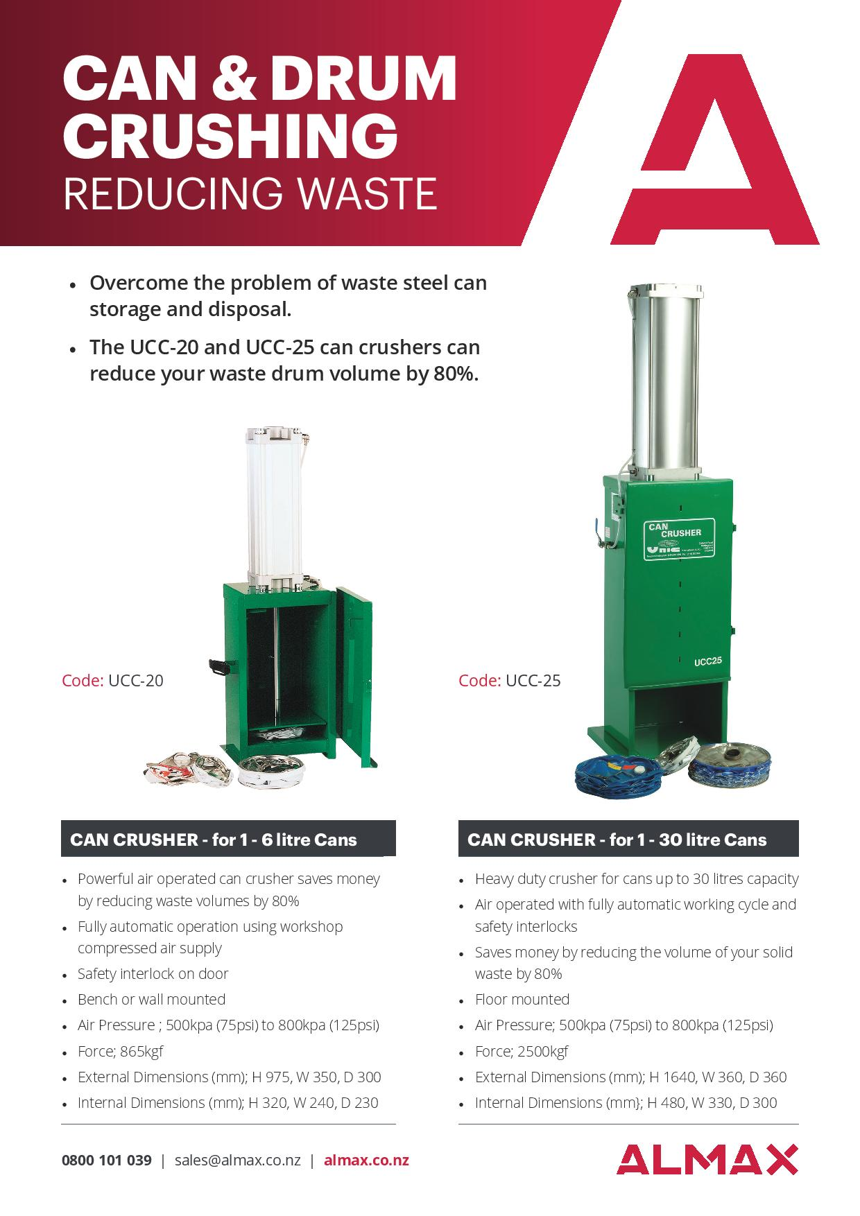Reduce Waste - Can & Drum Crusher