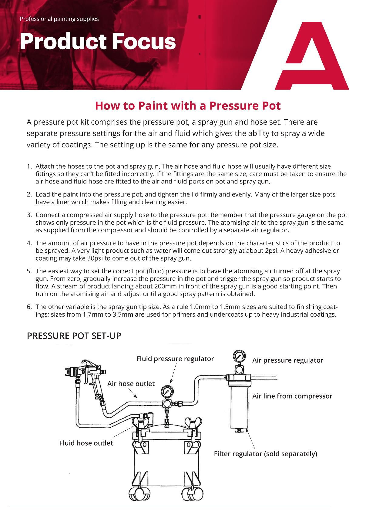 How to Paint with a Pressure Pot