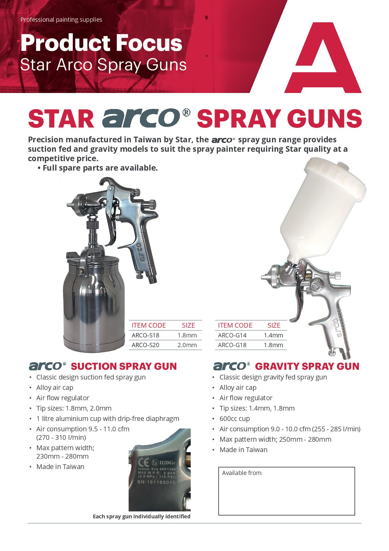 Star Arco Spray Guns