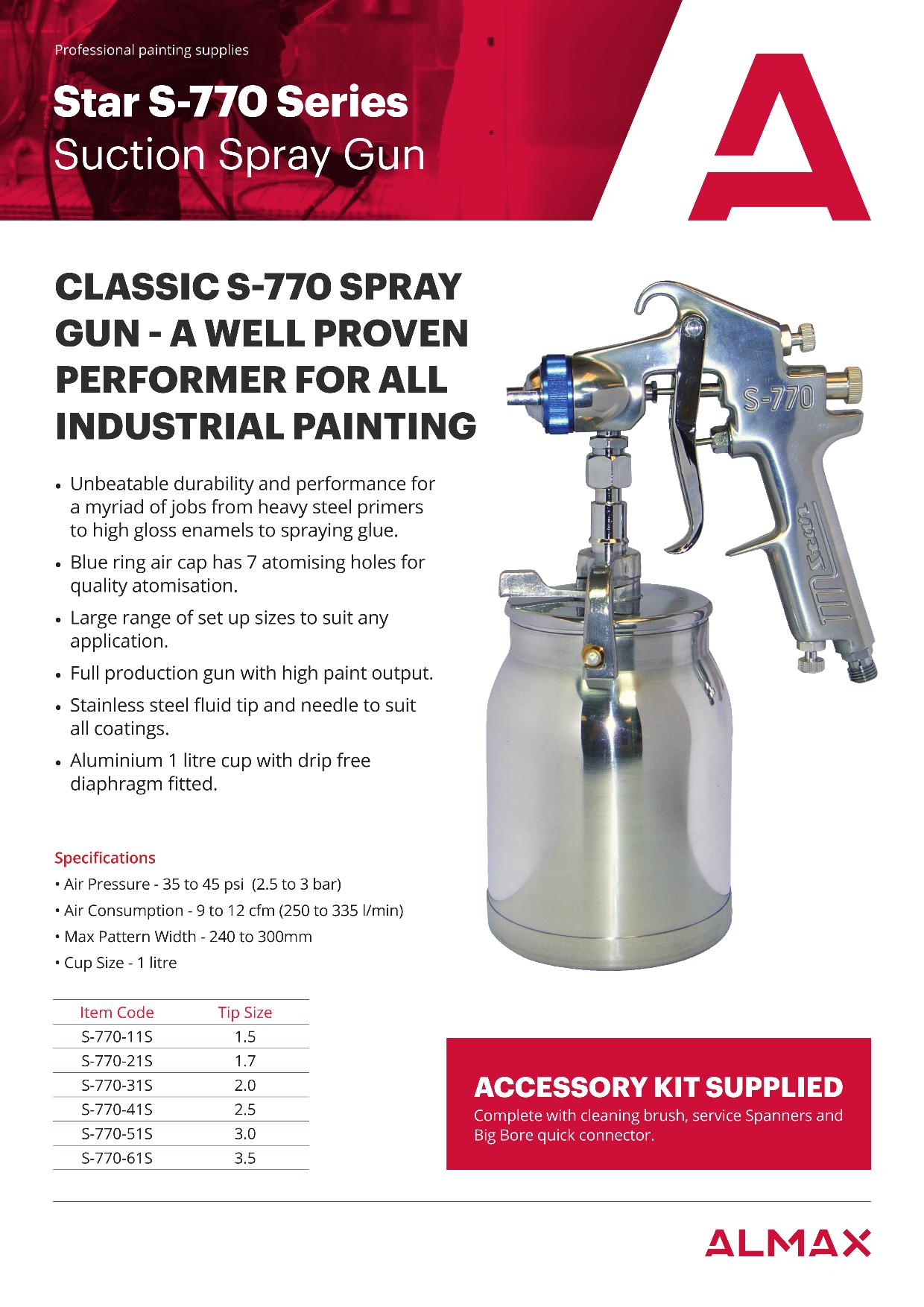 Star S-770 Series Spray Gun