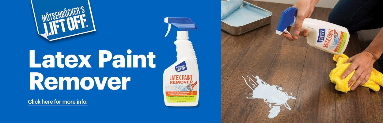 Fast & Easy Removal of Latex Paint from Carpet, Wood, Aluminium, concrete, tiles & more.