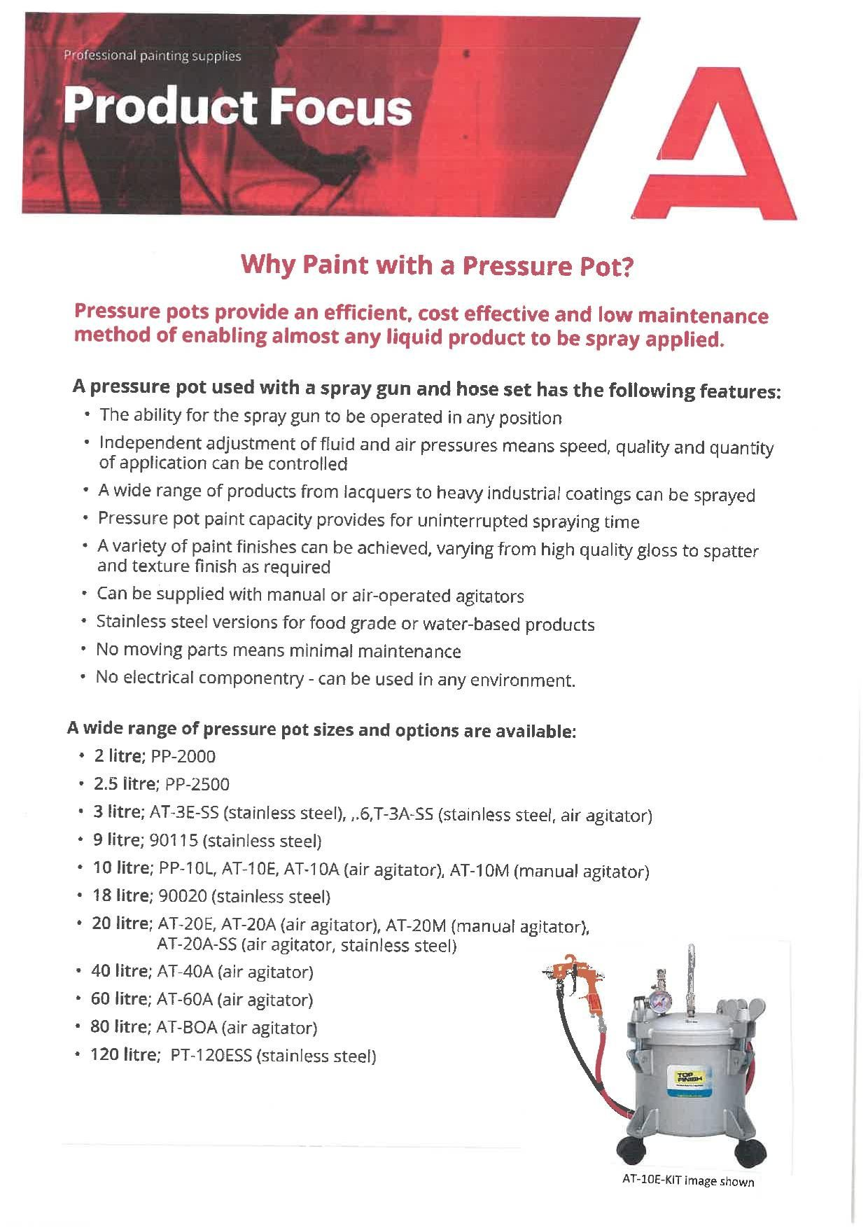 Why Paint with a Pressure Pot?